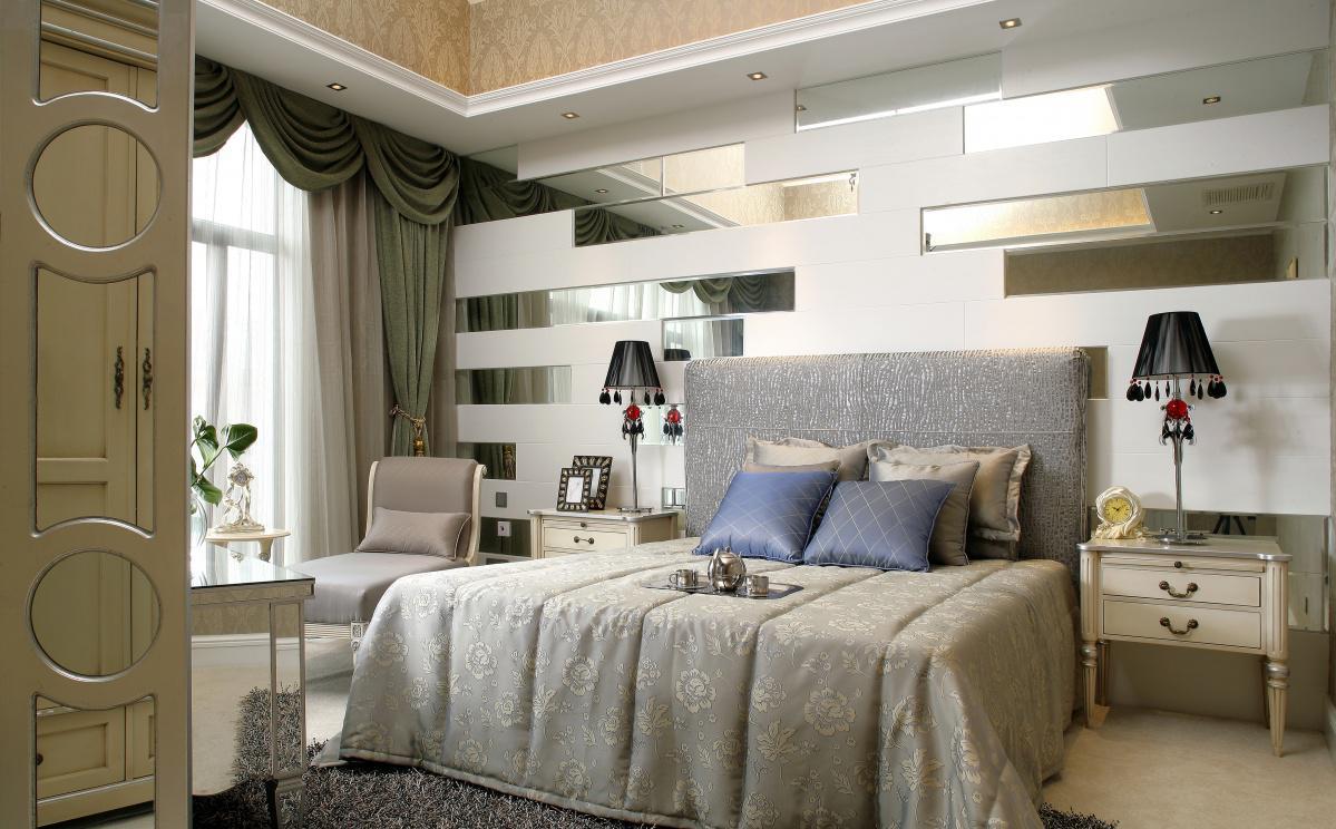 最新现代大主卧室装修效果图