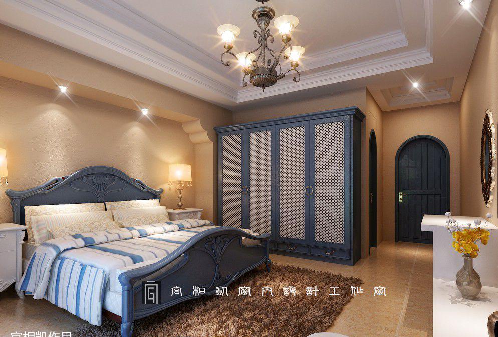 欧式地中海主卧室衣柜装修效果图
