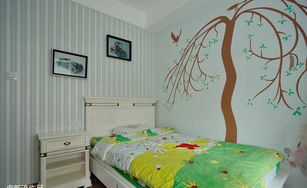 卧室手绘墙画装修效果图