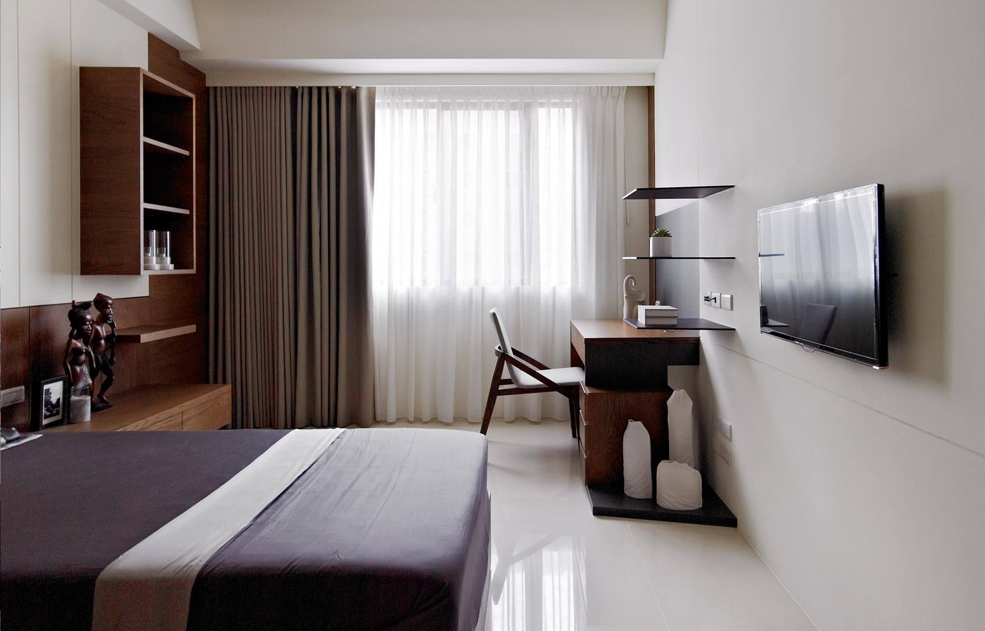 简约风格12平米卧室装修图片 - 九正家居装修效果图