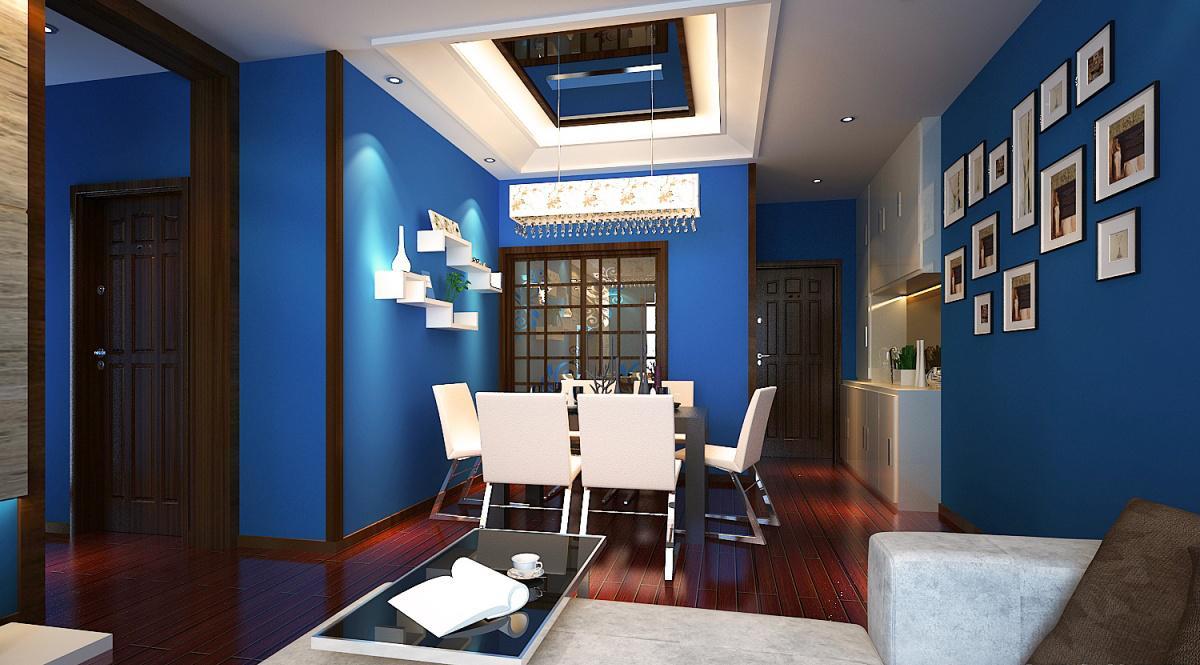 家居图库 > 蓝色地中海风格餐厅照片墙装修