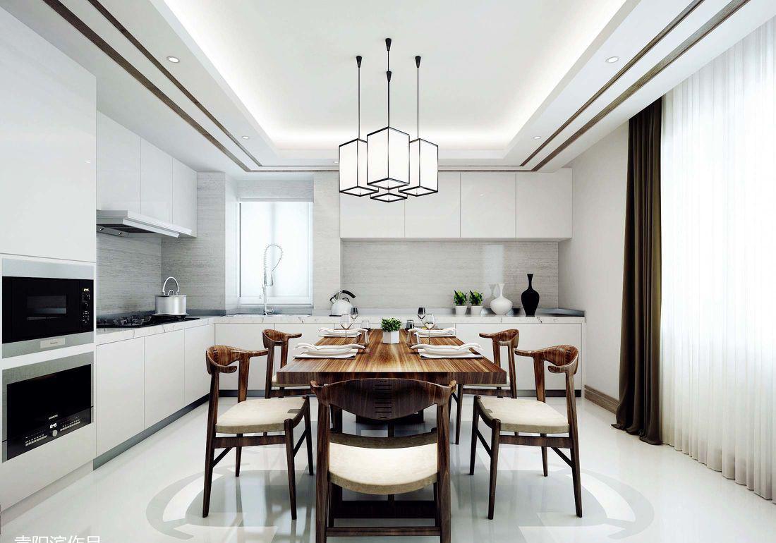 新中式风格厨房餐厅装修效果图图片