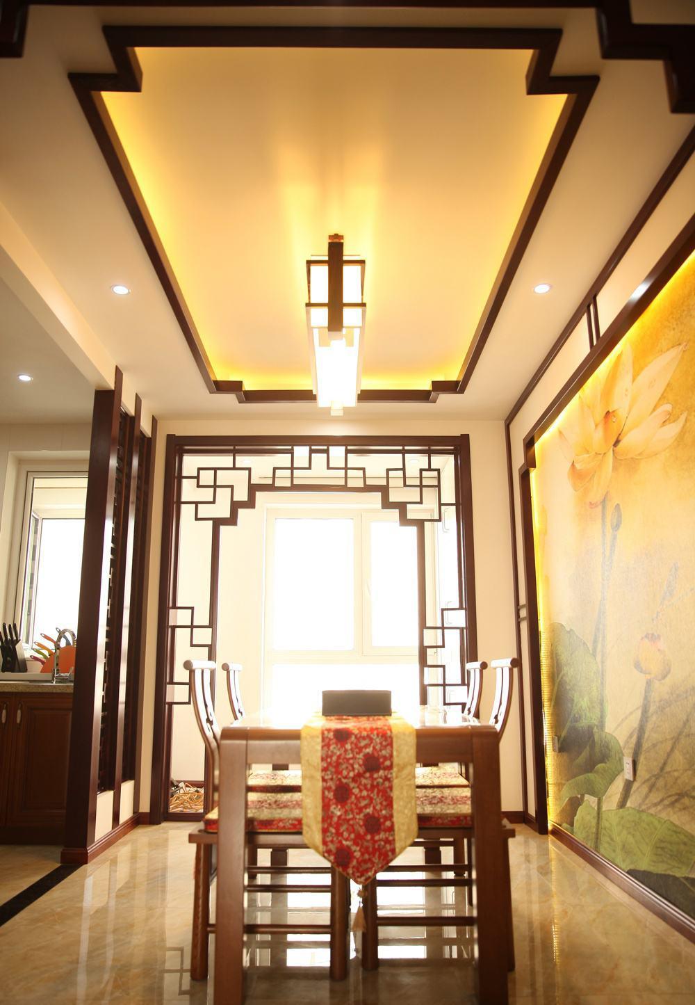 中式风格餐厅吊顶装修效果图大全图片