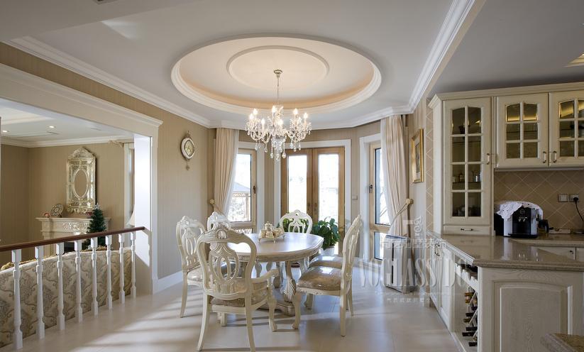 现代欧式风格餐厅圆形吊顶效果图大全