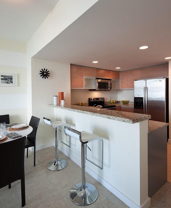小户型厨房吧台装修效果图大全2012图片