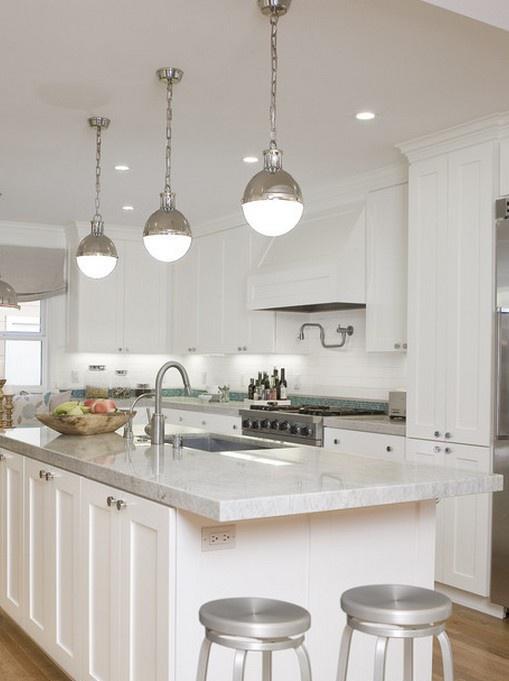 欧式整体厨房大理石台面装修效果图