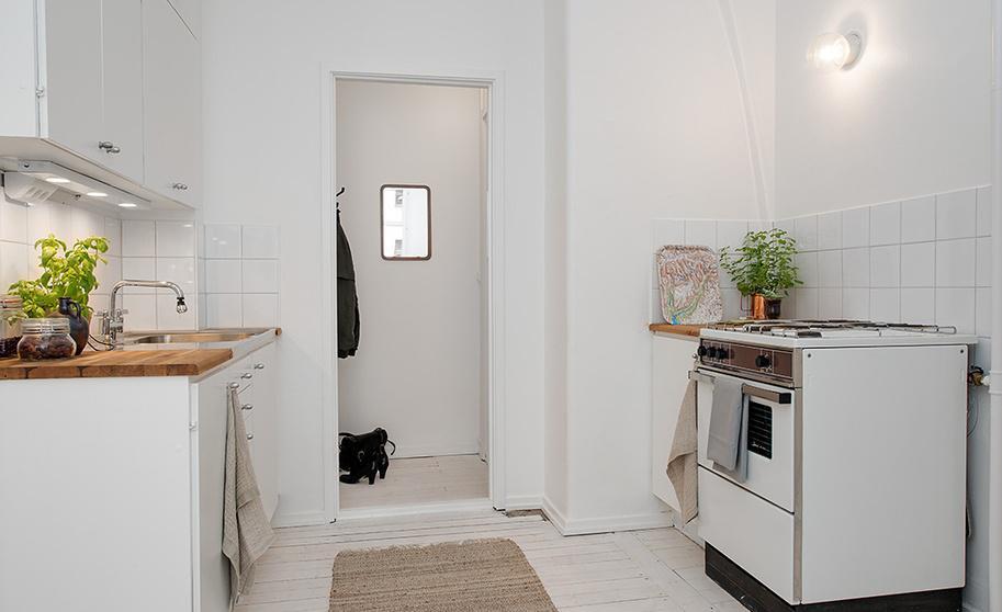 北欧风格厨房白瓷砖贴图