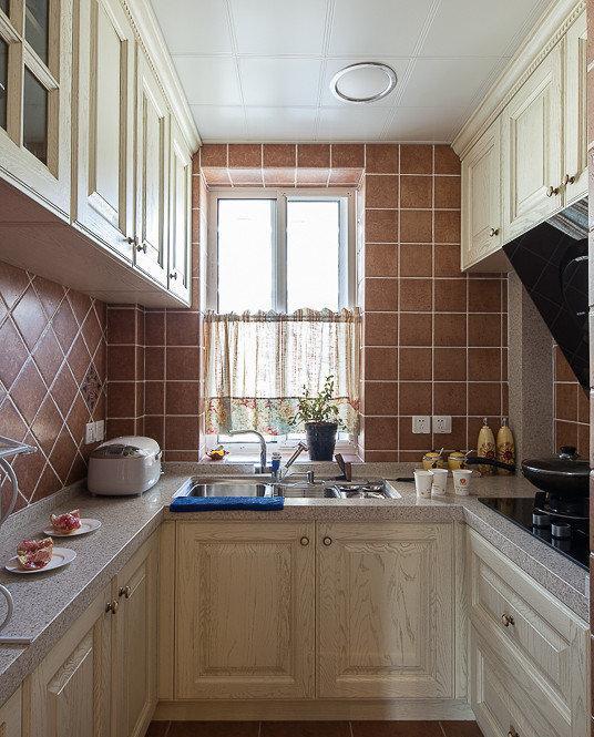 u型小厨房装修效果图大全2014图片