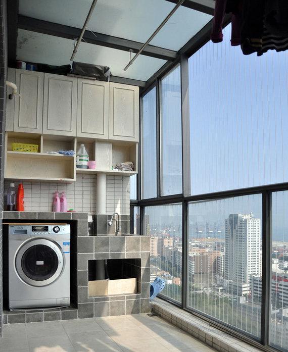 封闭式阳台洗衣房装修效果图大全图片