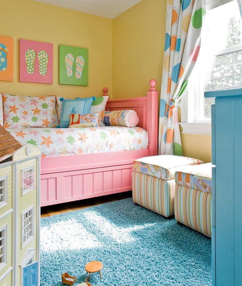 宜家温馨儿童房间布置图片