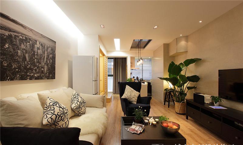 现代简约风格70平米小户型客厅装修图