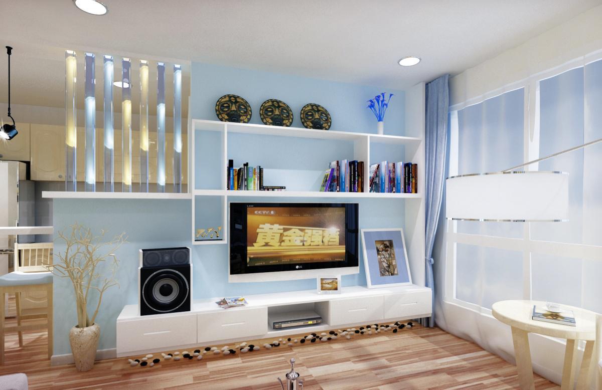 小户型客厅电视背景墙装修效果图欣赏