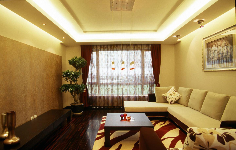 现代简装两居室客厅装修效果图图片