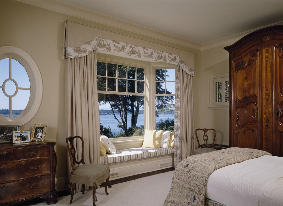 主卧飘窗装修效果图 卧室飘窗窗帘装修图片