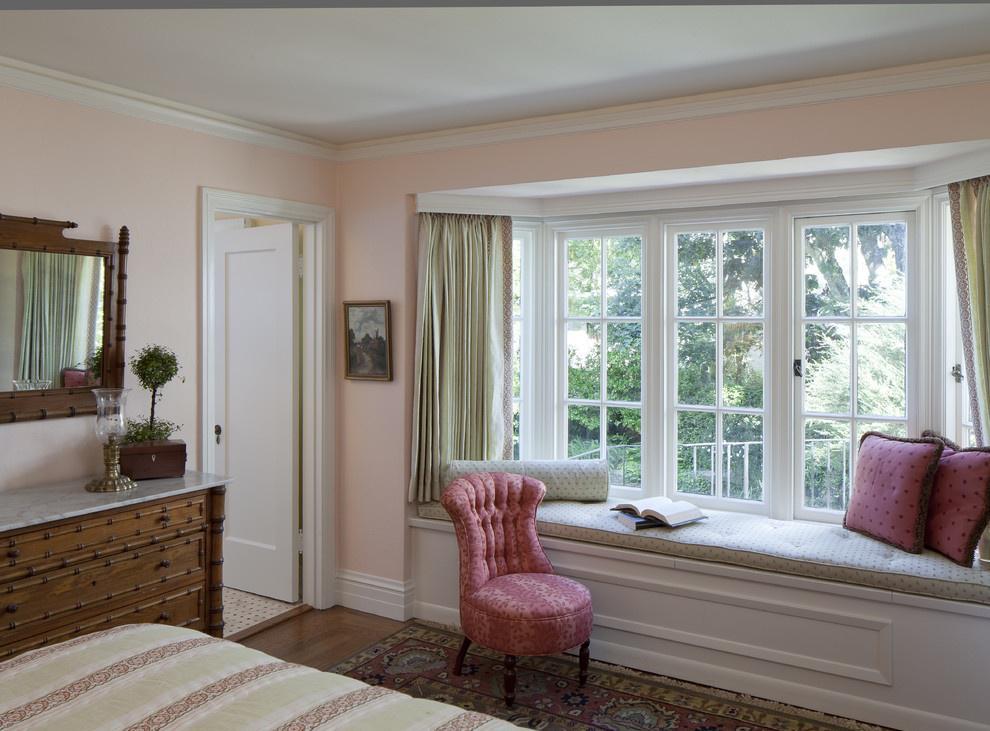 现代卧室飘窗窗帘效果图