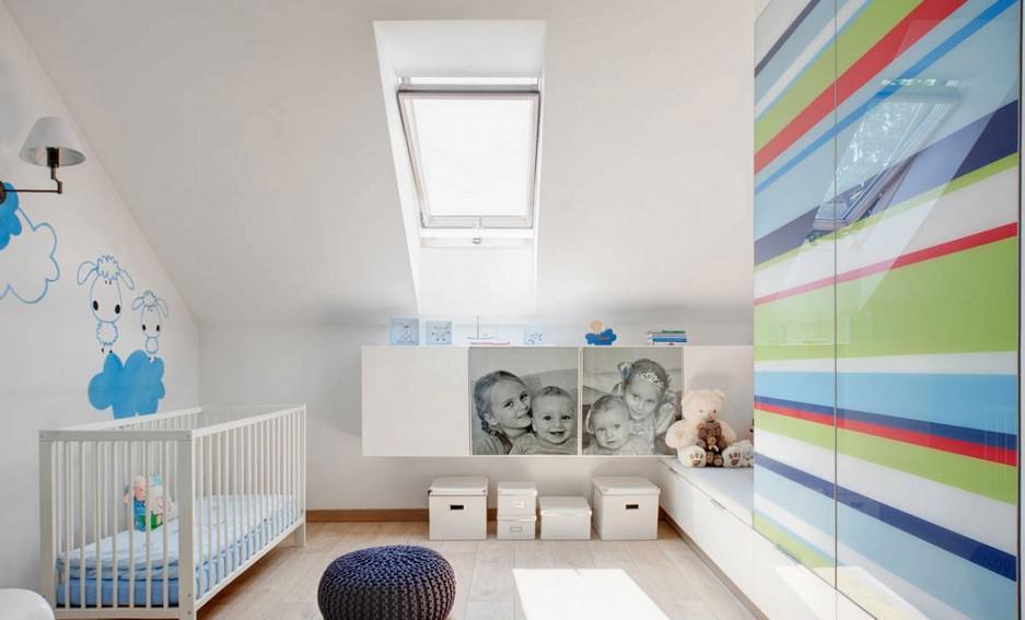 复式斜顶阁楼儿童房设计图 - 九正家居装修效果图图片