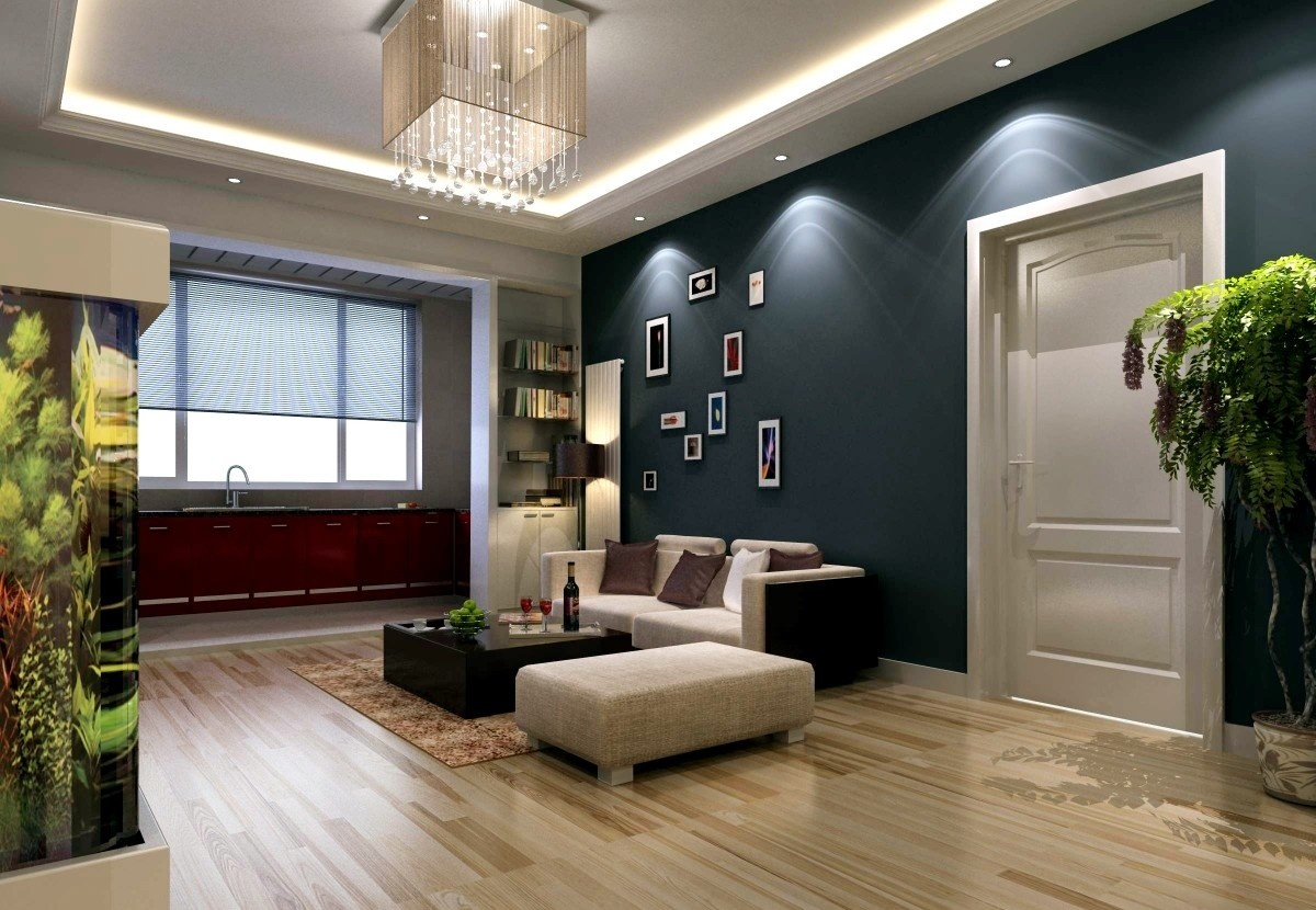 小户型客厅吊顶装修 从简约风格中找窍门