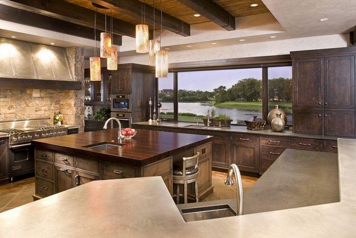 美式复古的小户型厨房装修效果图大全2015图片