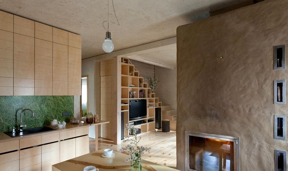 120平米原木复式楼厨房设计图片