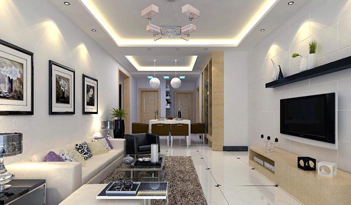 现代简约客厅装修效果图吊顶