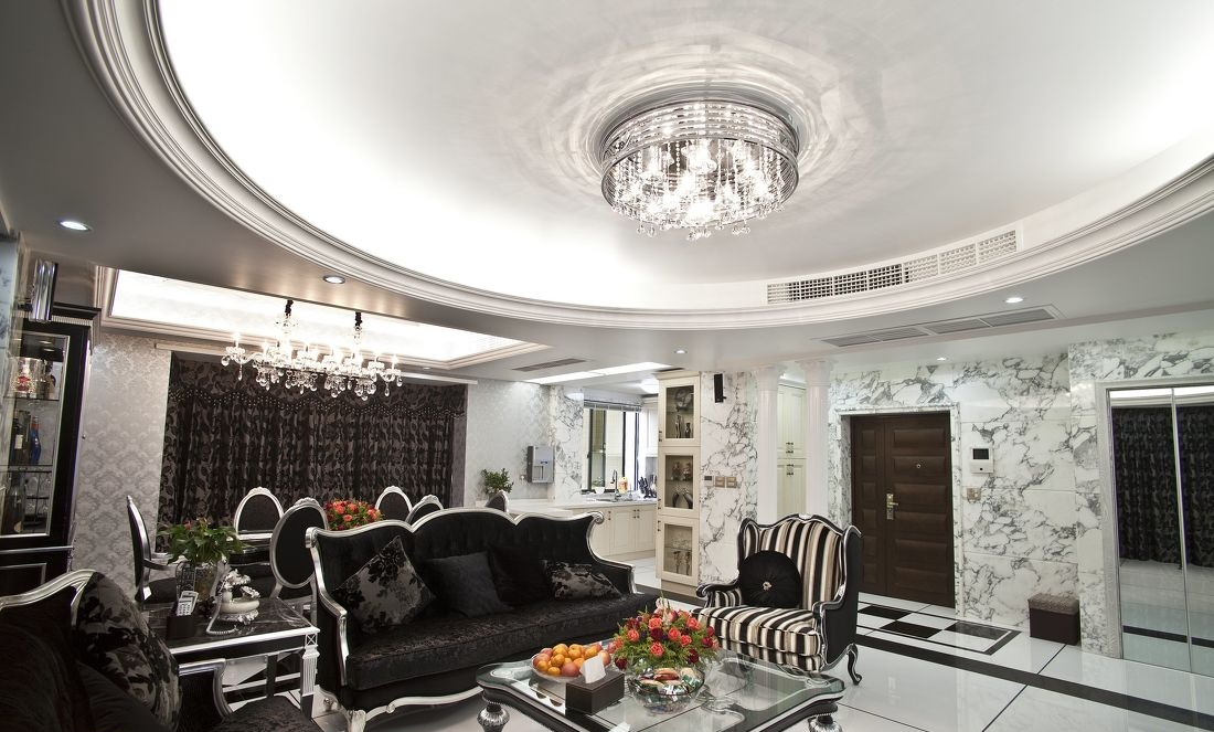最新欧式客厅吊顶图片 - 九正家居装修效果图图片