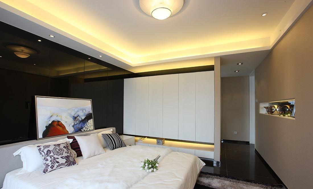 现代简约主卧室装修效果图大全