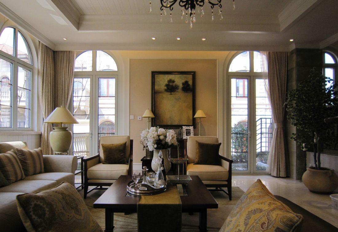 欧式客厅沙发照片背景墙效果图图片