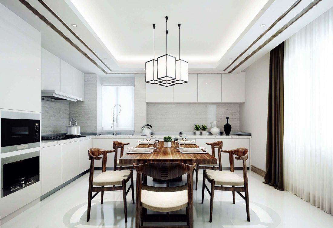 新中式风格厨房餐厅装修效果图