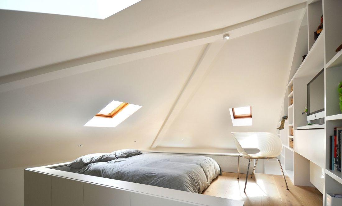 顶层斜顶阁楼卧室装修效果图