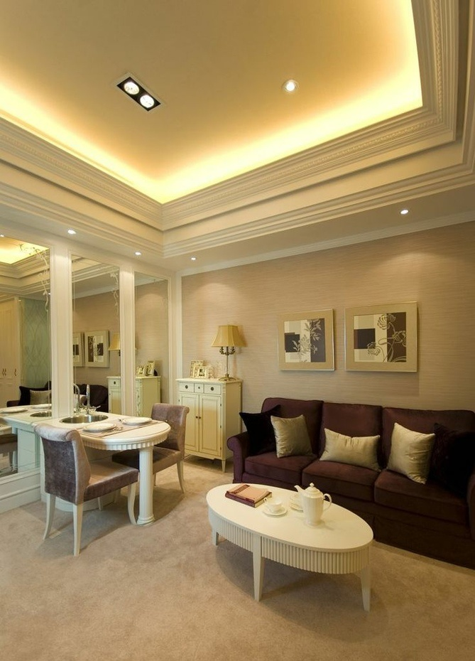 欧式小户型客厅装修风格图片