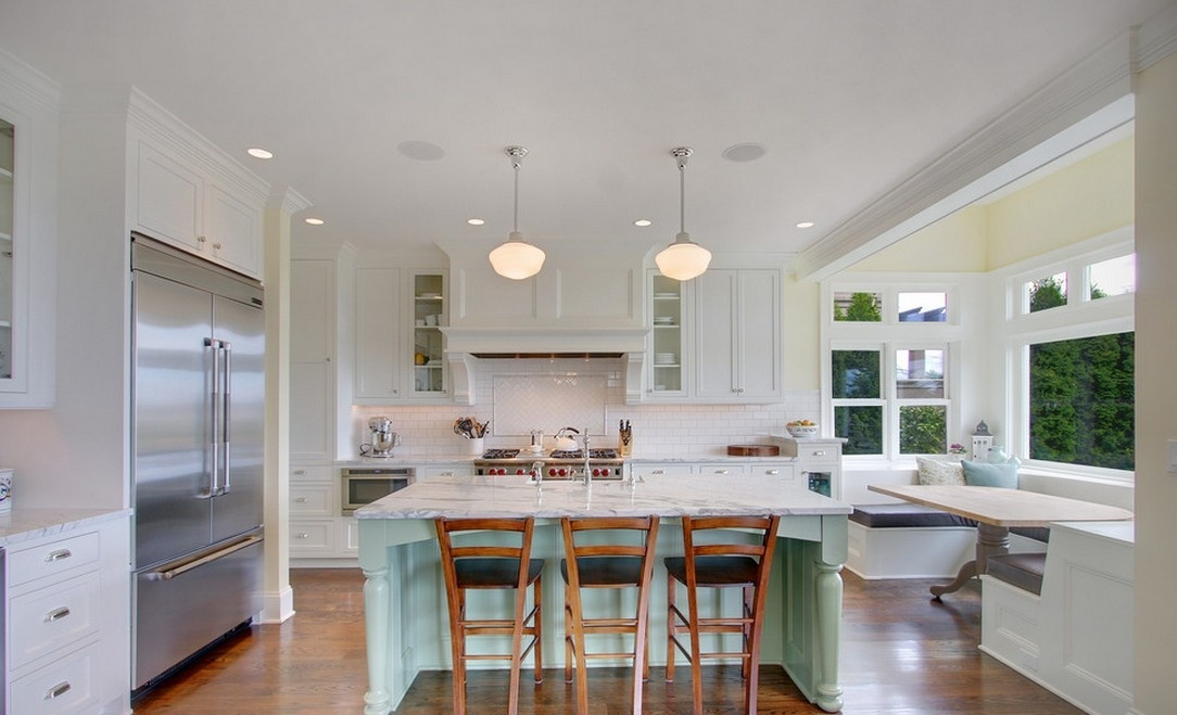 开放式厨房装修效果图欧式吧台