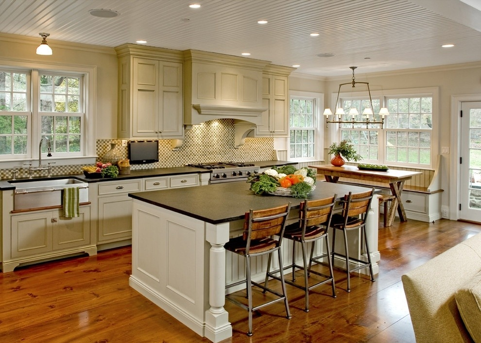 欧式开放式厨房吧台装修设计