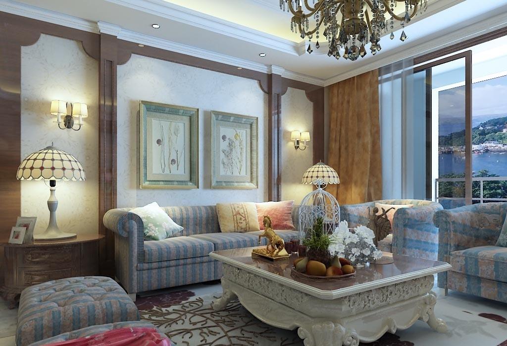 欧式客厅装修设计效果图大全2015图片欣赏