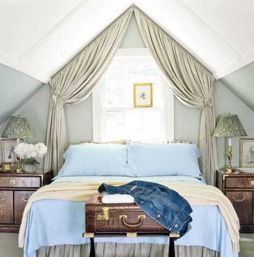 斜顶阁楼卧室设计图 - 九正家居装修效果图