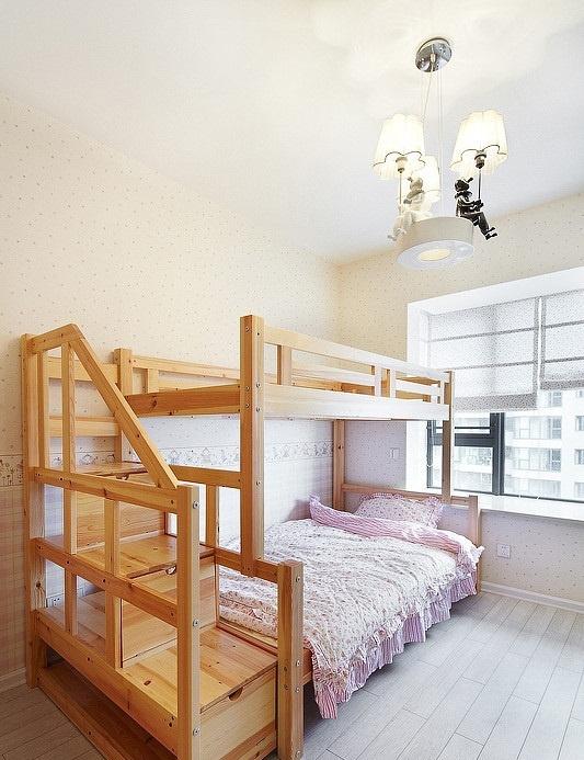 儿童房实木双层床装修效果图