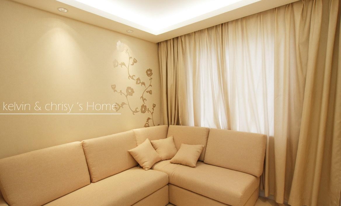 现代简约风格客厅拐角沙发效果图大全2015图片