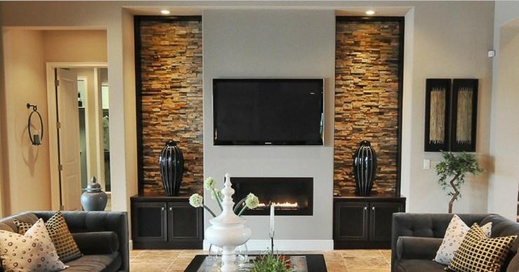 客厅壁炉设计图片
