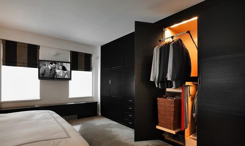 卧室实木大衣柜门效果图