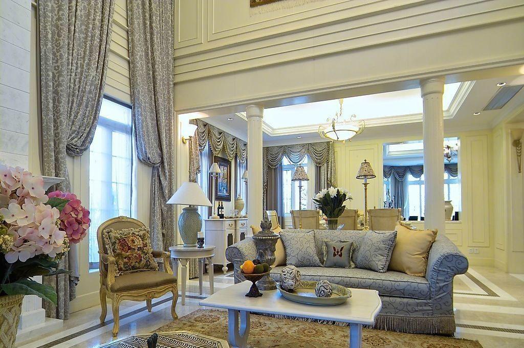 室内客厅欧式罗马柱图片