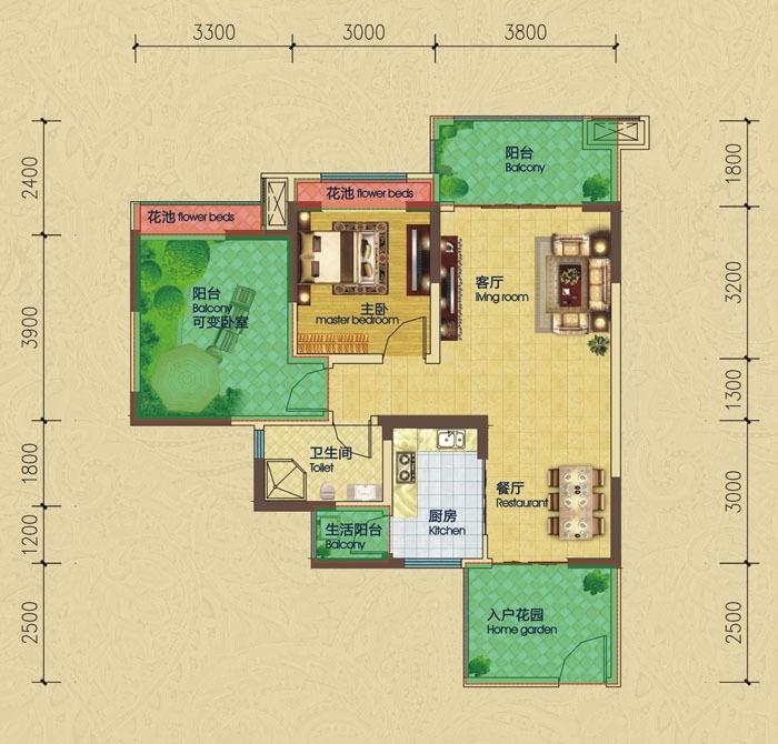 小户型房屋设计平面图