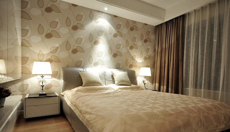 简约墙纸 效果图 卧室图片