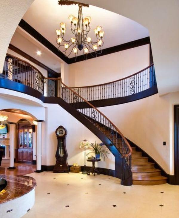 欧式别墅楼梯设计图片欣赏