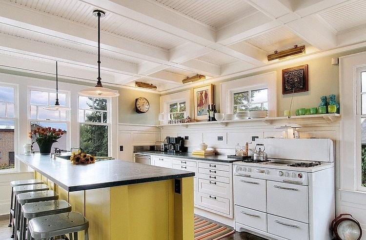 开放式厨房吧台效果图片