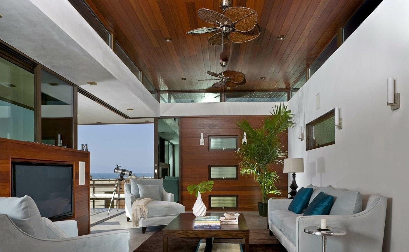 客厅生态木吊顶效果图