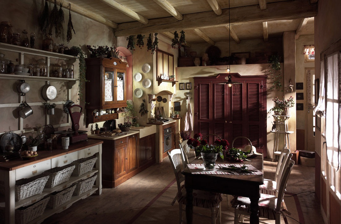 美式乡村风格大厨房设计图片图片