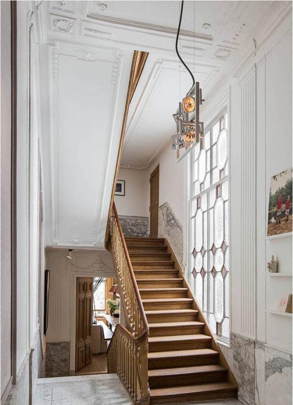 欧式别墅楼梯间装修效果图