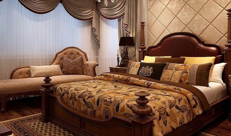 欧式卧室实木床图片欣赏
