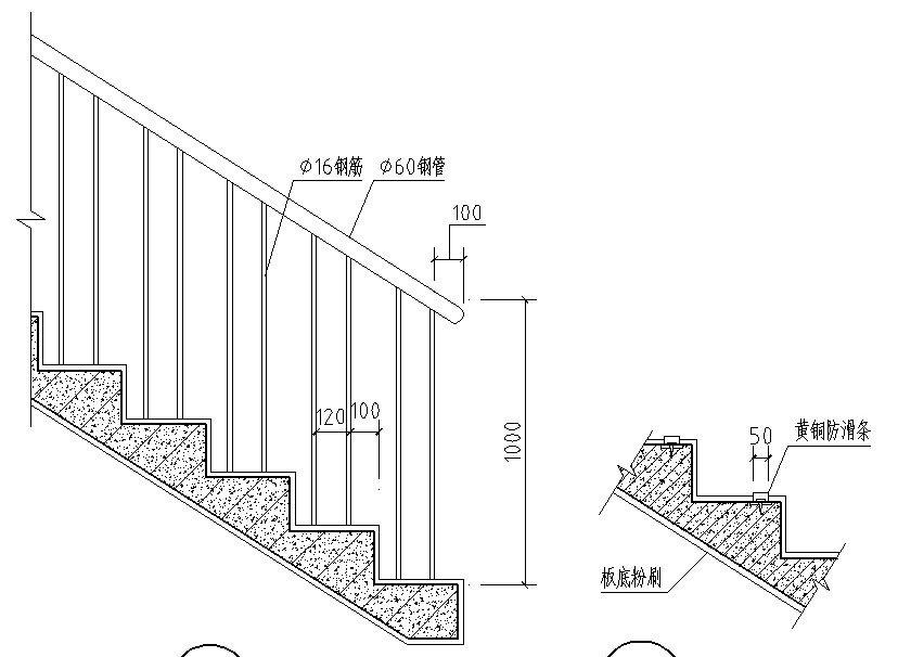 室内楼梯剖面图设计大全图片