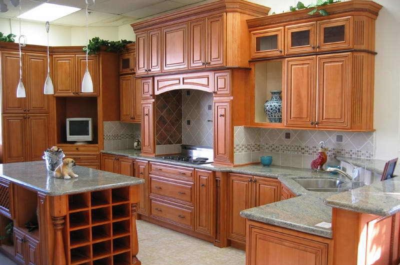 实木厨房效果图 - 装修效果图 - 九正家居网图片