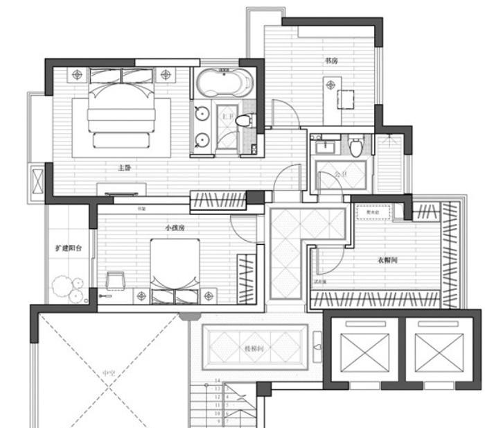 萨伏伊别墅平面图设计图